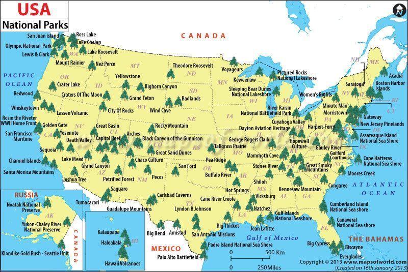 major-national-park-usa