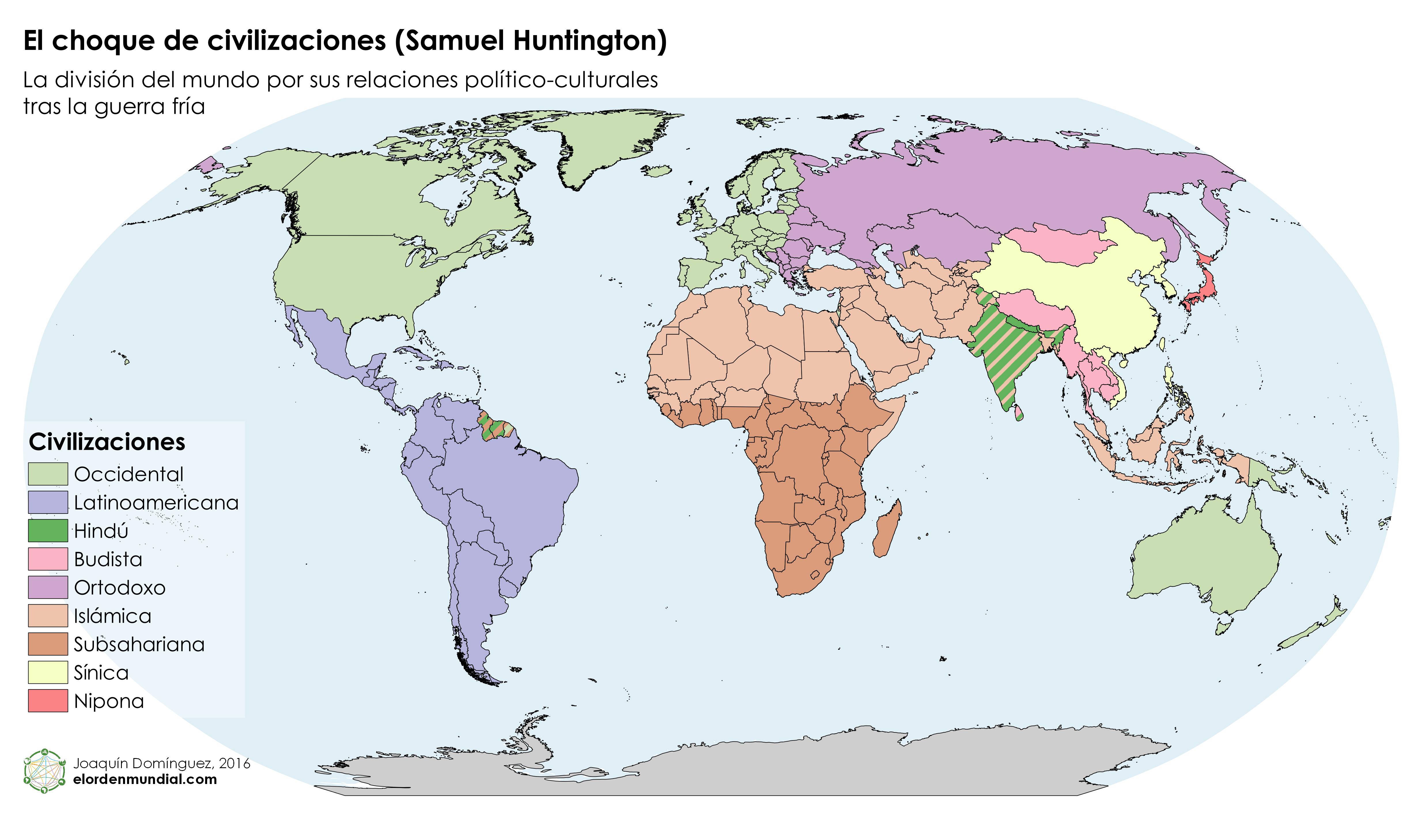Mundo – Choque de Civilizaciones – Huntington