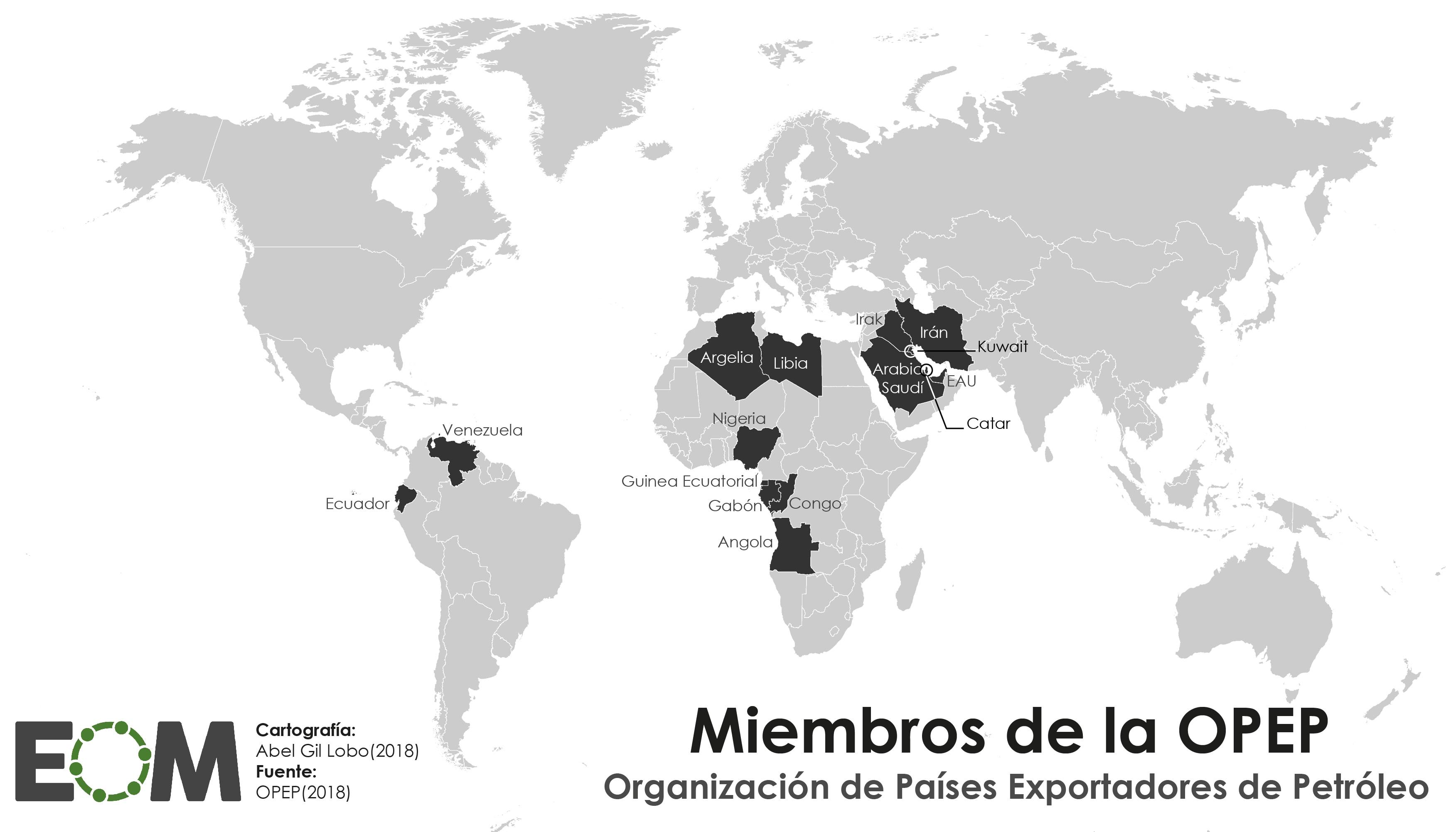 Los Paises De La Opep Mapas De El Orden Mundial Eom