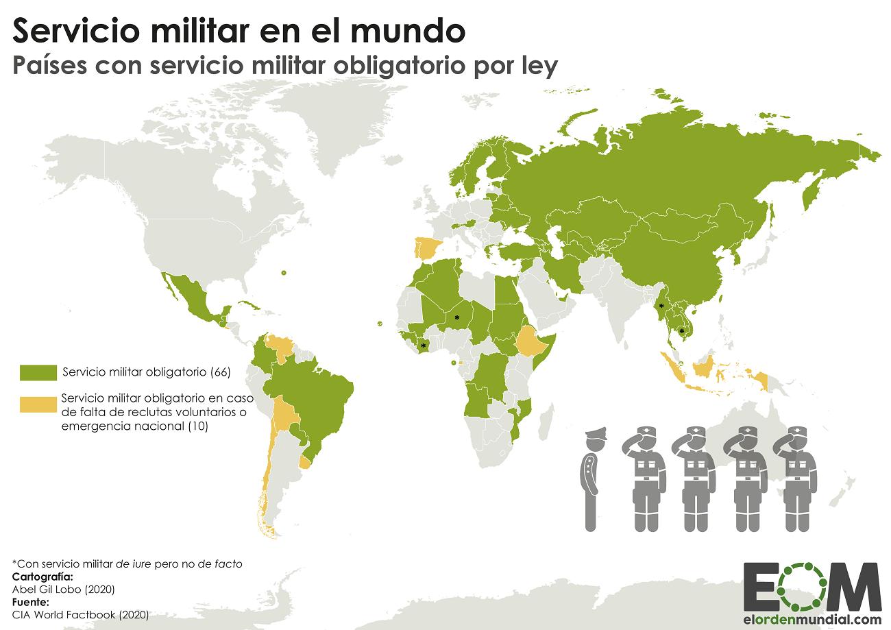 Países con servicio militar