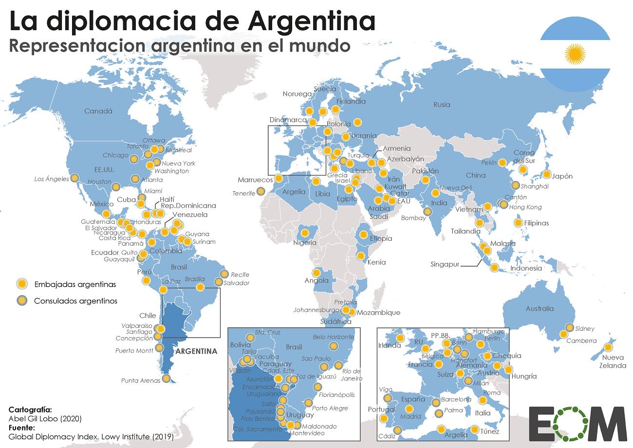Embajadas y consulados de Argentina en el mundo