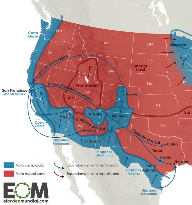 Geografía electoral de Estados Unidos en la costa oeste